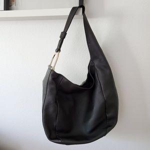 Gucci Greenwich Stirrup Black Leather Shoulder Bag